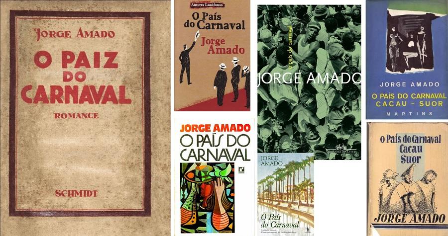 """Capas do livro """"O País do Carnaval"""", de Jorge Amado"""