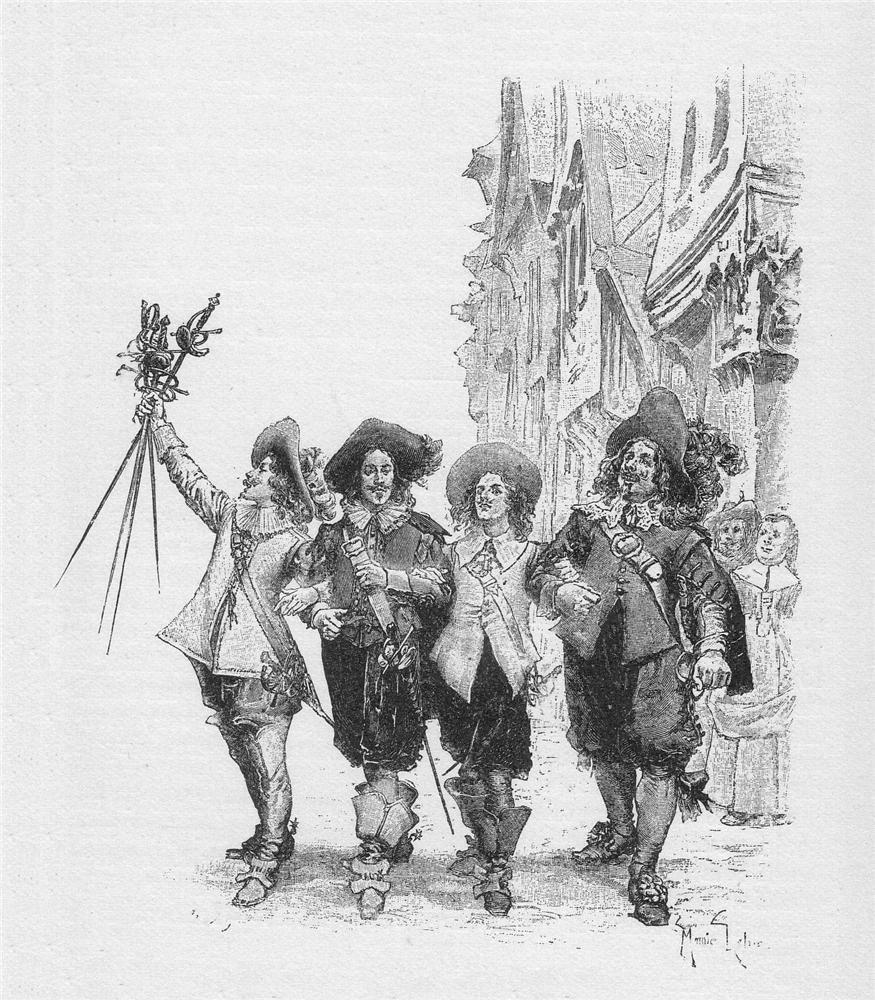 Os mosqueteiros, por Gustave Doré