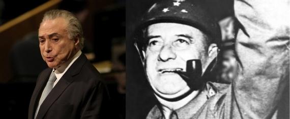 Presidente Michel Temer e General Olímpio Mourão Filho