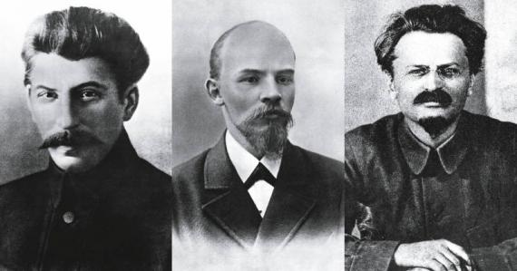 Stálin, Lenin e Trotsky