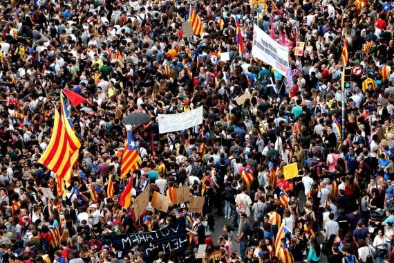 Manifestações na Catalunha