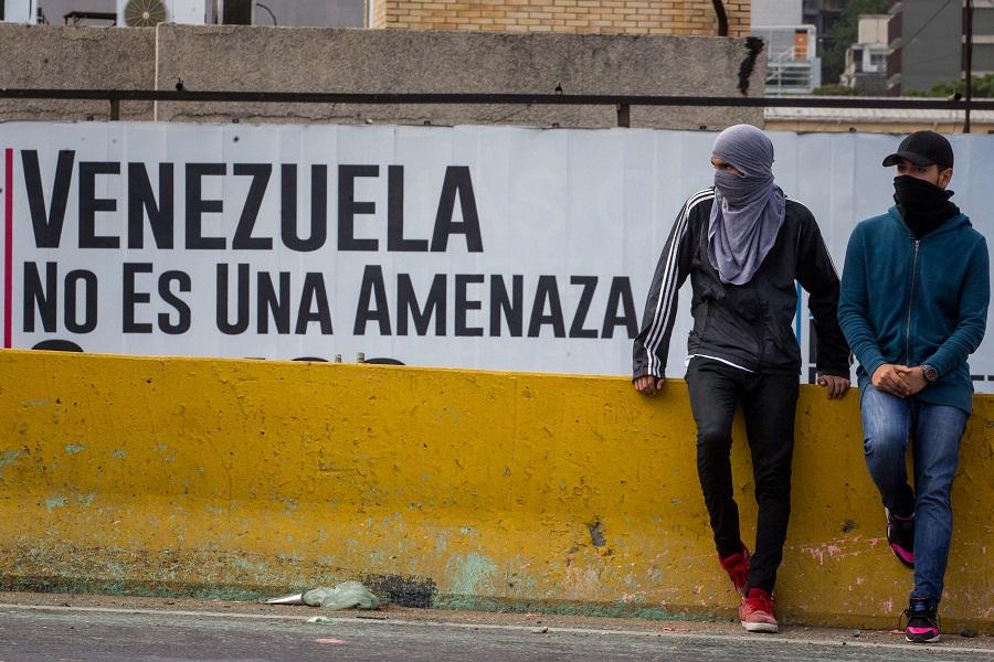 Manifestantes em Caracas, na Venezuela, no último sábado (27/05). Foto: Agência Efe
