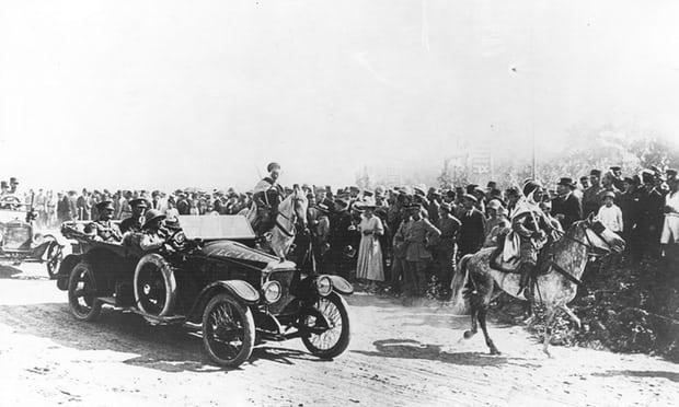 O general Allenby na conquista de Jerusalém em dezembro de 1917